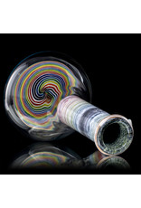 "Witch DR FF5.28 10mm 8.5"" Rainbow Birch Beaker Spiral Base 3."