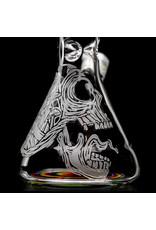 "Witch DR FF5.28 14mm 13.25"" Rainbow Birch Mushroom Skull Beaker Bong Witch DR 29x"
