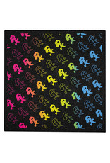 """Witch DR Rx Rainbow Fade Repeat Moodmat 8""""x8"""" Square"""
