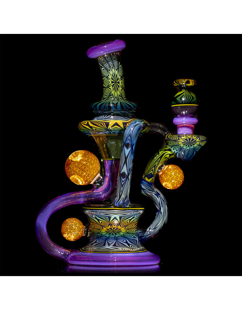 """Steve Sizelove 8"""" Dual Uptake Recycler w/ Cap by Steve Sizelove 9th Anniversary Special Edition"""