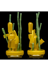 Danny Camp 9A6.1 Ghost Yellow w/ Asian Green over Glue Stick Bamboo Double Drain Rice Tender Set Danny Camp