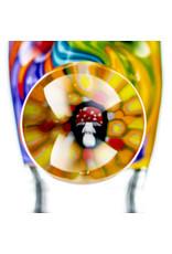 Black Tuna Glass 18mm Bong Bowl Slide with Mushroom Millie Handle and 5-Hole glass screen by Black Tuna (Q)