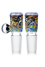 Black Tuna Glass 18mm Bong Bowl Slide with Millie Handle and 5-Hole glass screen by Black Tuna (T)