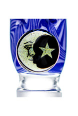 Black Tuna Glass 18mm Bong Bowl Slide with Moon Star Millie Handle and 5-Hole glass screen by Black Tuna (U)
