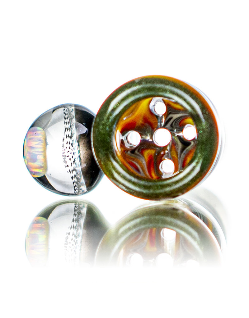 Black Tuna Glass 18mm Bong Bowl Slide with Opal Chip Millie Handle and 5-Hole glass screen by Black Tuna (Y)