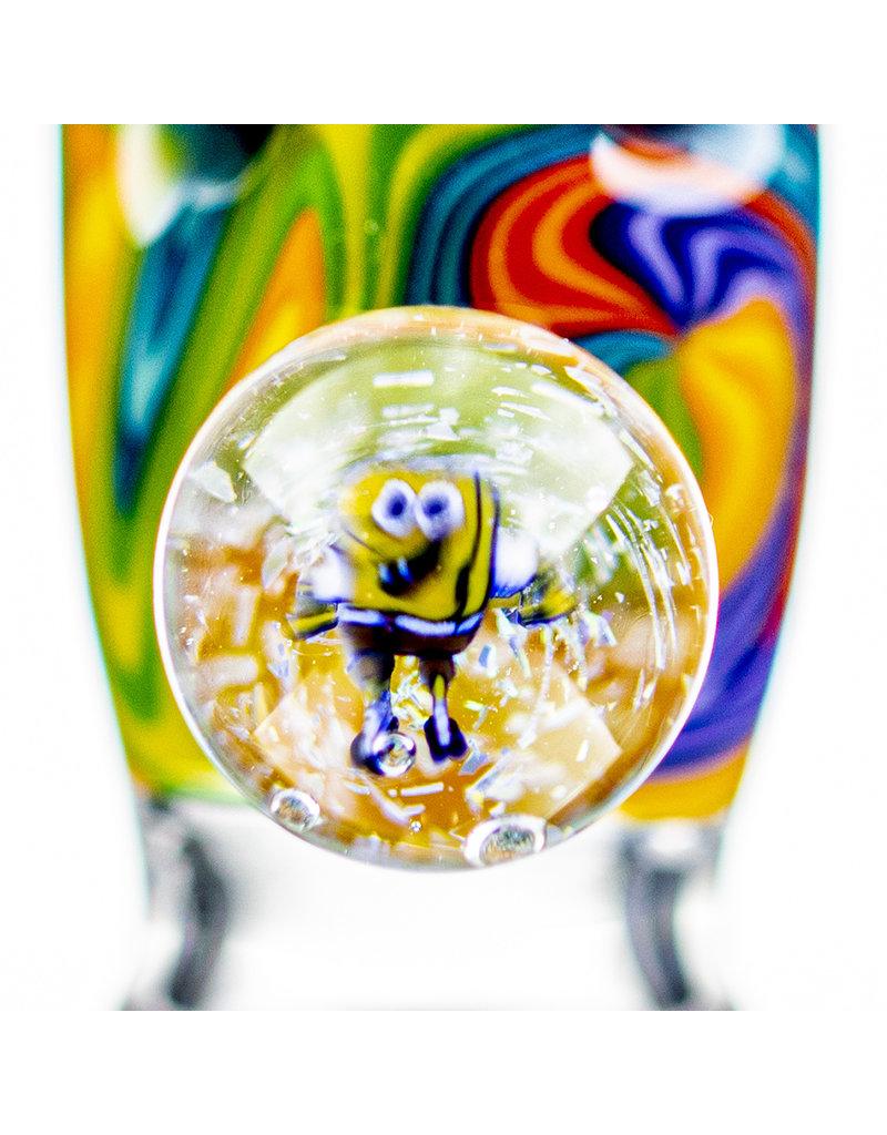 Black Tuna Glass 18mm Bong Bowl Slide with Sponge Bob Millie Handle and 5-Hole glass screen by Black Tuna (Z)