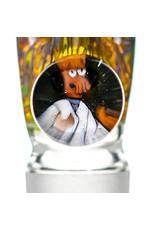 Black Tuna Glass 18mm Bong Bowl Slide Piece with Zoidberg Millie Handle and 5-Hole glass screen by Black Tuna (DA)