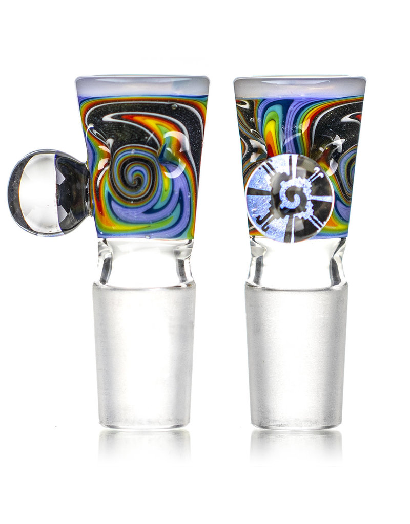 Black Tuna Glass 18mm Bong Bowl Slide Piece with Millie Handle and 5-Hole glass screen by Black Tuna (EA)