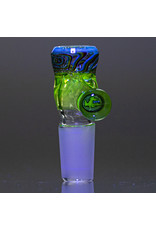 Black Tuna Glass 18mm UV Accented Bong Bowl Slide Piece with Millie Handle and 5-Hole glass screen by Black Tuna (LA)