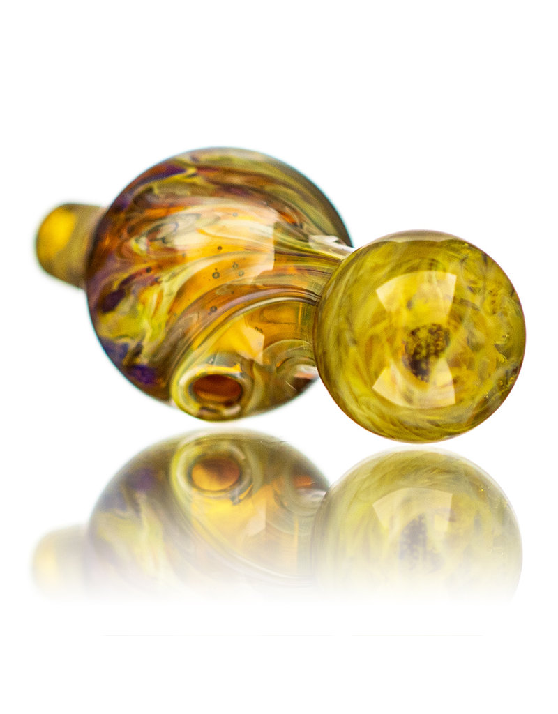 25mm Marbled Pineapple Express Glass Bubble Carb Cap by Messy Glass