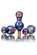 25mm Marbled Northern Lights Glass Bubble Carb Cap by Messy Glass
