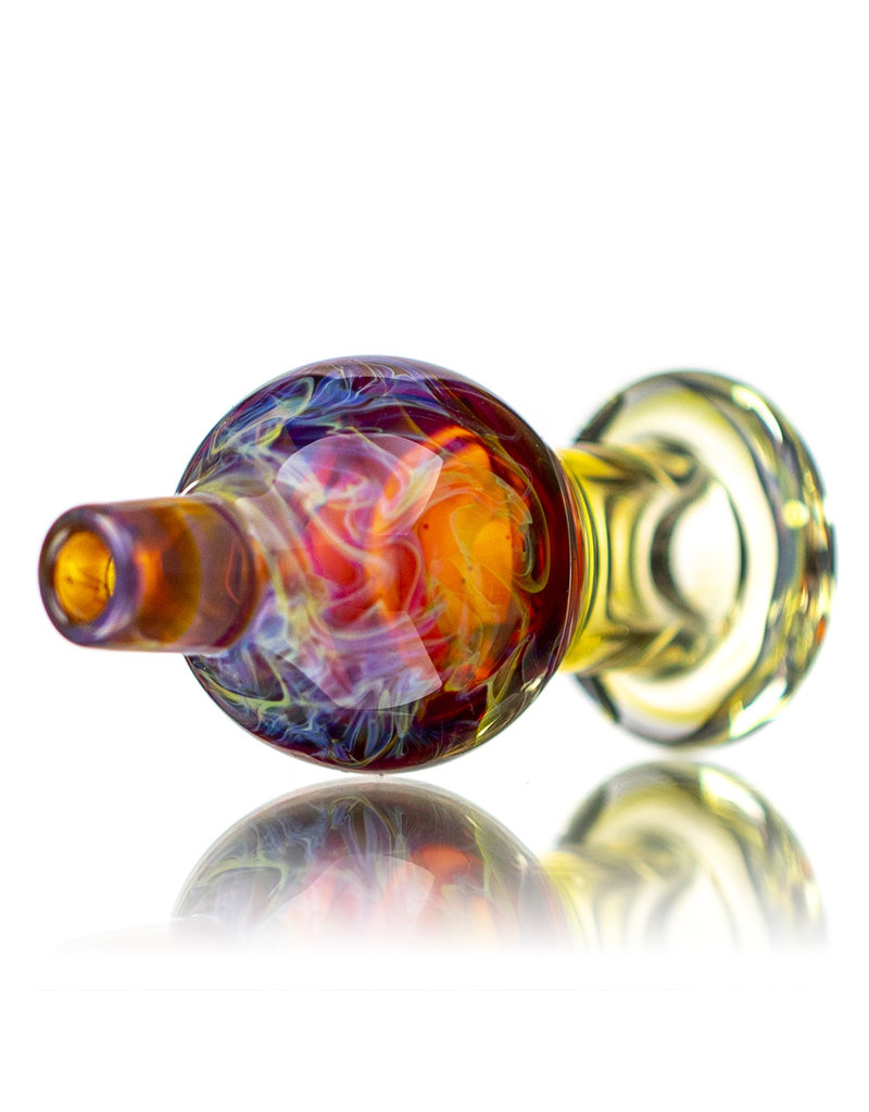 25mm Purple Haze Marbled Glass Bubble Carb Cap by Messy Glass