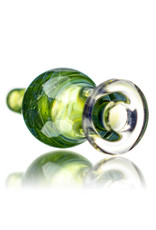 25mm Sour Diesel Marbled Glass Bubble Carb Cap by Messy Glass