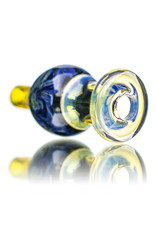 25mm Northern Lights Marbled Glass Bubble Carb Cap by Messy Glass