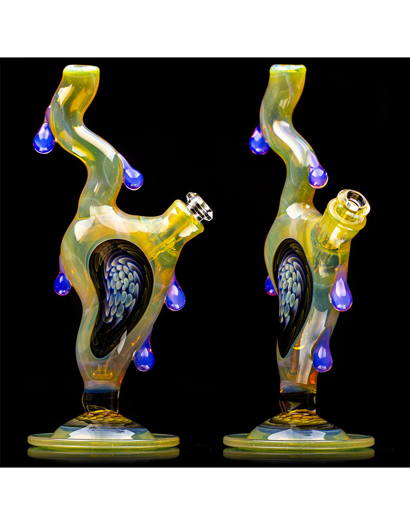 """8"""" 10mm Melting Clock Rig with Removable Downstem (A) by Scoby"""