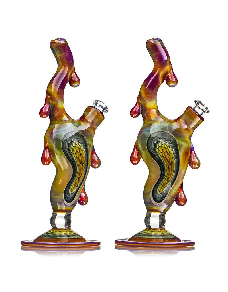 """8"""" 10mm Melting Clock Rig with Removable Downstem (C) by Scoby"""
