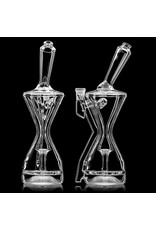"""10"""" 14mm 90 Hamm's Waterworks Hourglass Recycler (A)"""