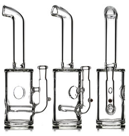 """7"""" 10mm 90 Fizzer Dab Rig by Shelbo Glass (A)"""