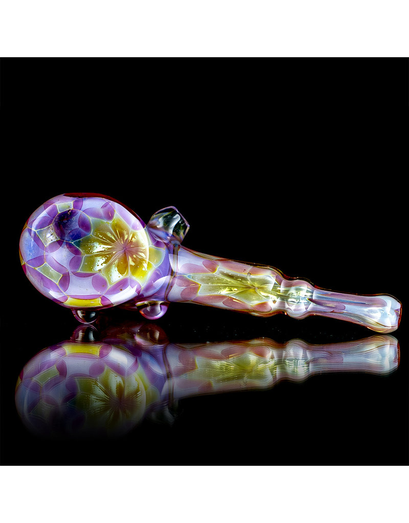 """AMP Glass 5"""" Classic Pink Slyme Gold Decorated Dry Hammer by AMP Glass"""