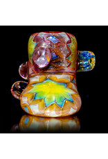"""AMP Glass 6"""" Large 5-Section Fume Decorated Hammer by AMP Glass (A)"""