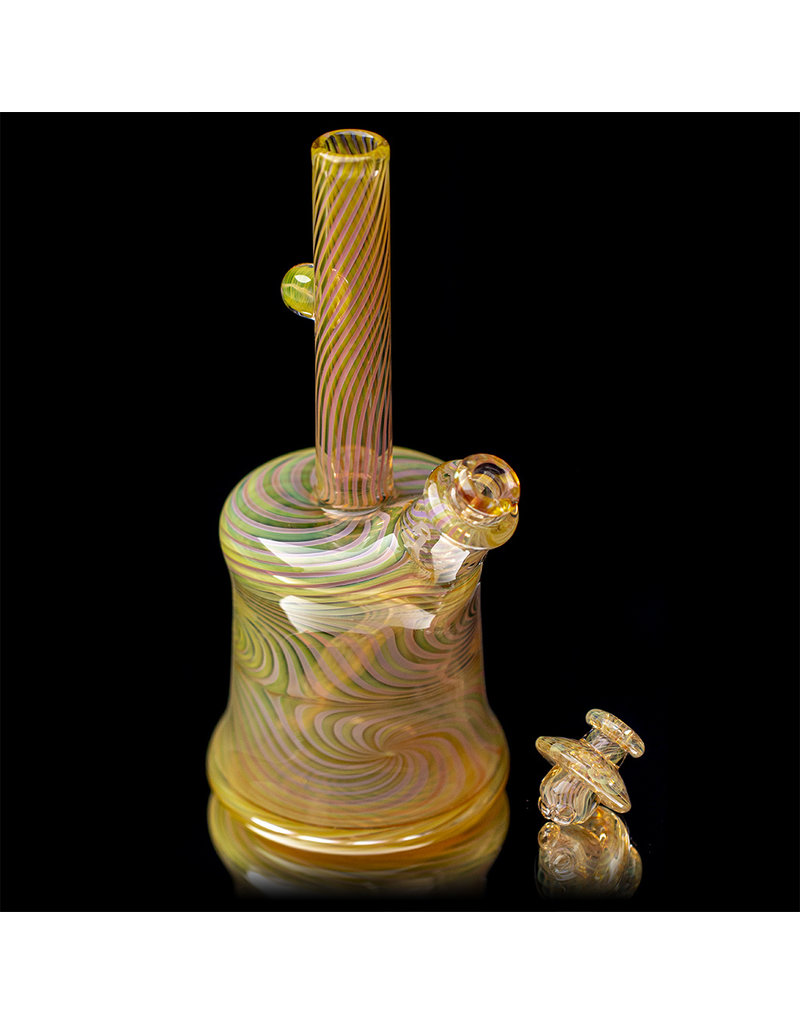 """Witch DR FF730 (B) 10mm 8"""" Multi Section Rig with Downstem and Spinner Cap by Witch DR Studio"""