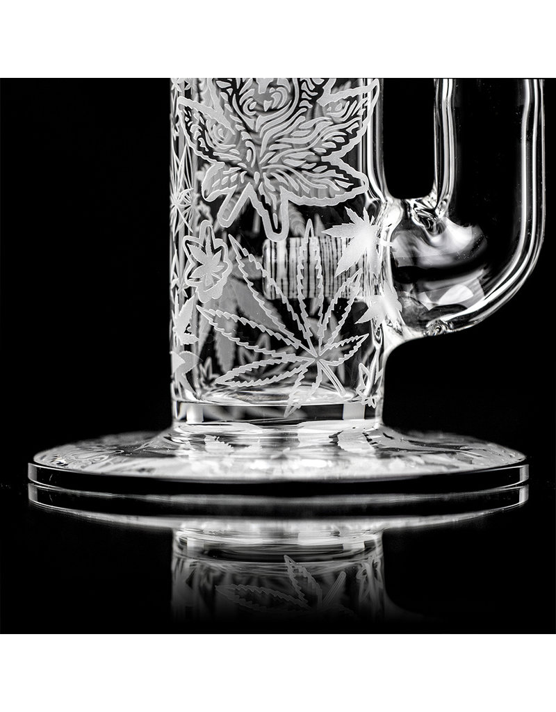 """Witch DR FF730 (T) 15"""" 18mm Weed Decorated Betula Birch Heady Topper Bong by Witch DR Studio"""