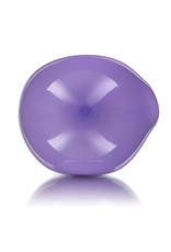 "4"" Milky Purple Rainbow HEART Pipe by Jellyfish Glass"