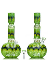 """EW21 12"""" 14mm Full Color Bong w/ Lighter Holder and Matching Slide (C) by Ed Wolfe"""