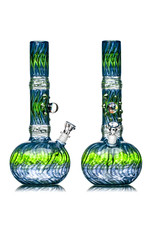 """EW21 13"""" 14mm Full Color Bubble Base Bong w/ Matching Slide (T) by Ed Wolfe"""
