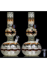 """EW21 12"""" 14mm Triple Donut WR Bubble Base Bong with Matching Slide (i) by Ed Wolfe"""