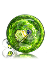 """EW21 13"""" 14mm WR Color Bubble Base Bong w/ Matching Slide (P) by Ed Wolfe"""