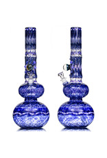 """EW21 15"""" 14mm Full Color Bubble Base Bong with Matching Slide (J) by Ed Wolfe"""