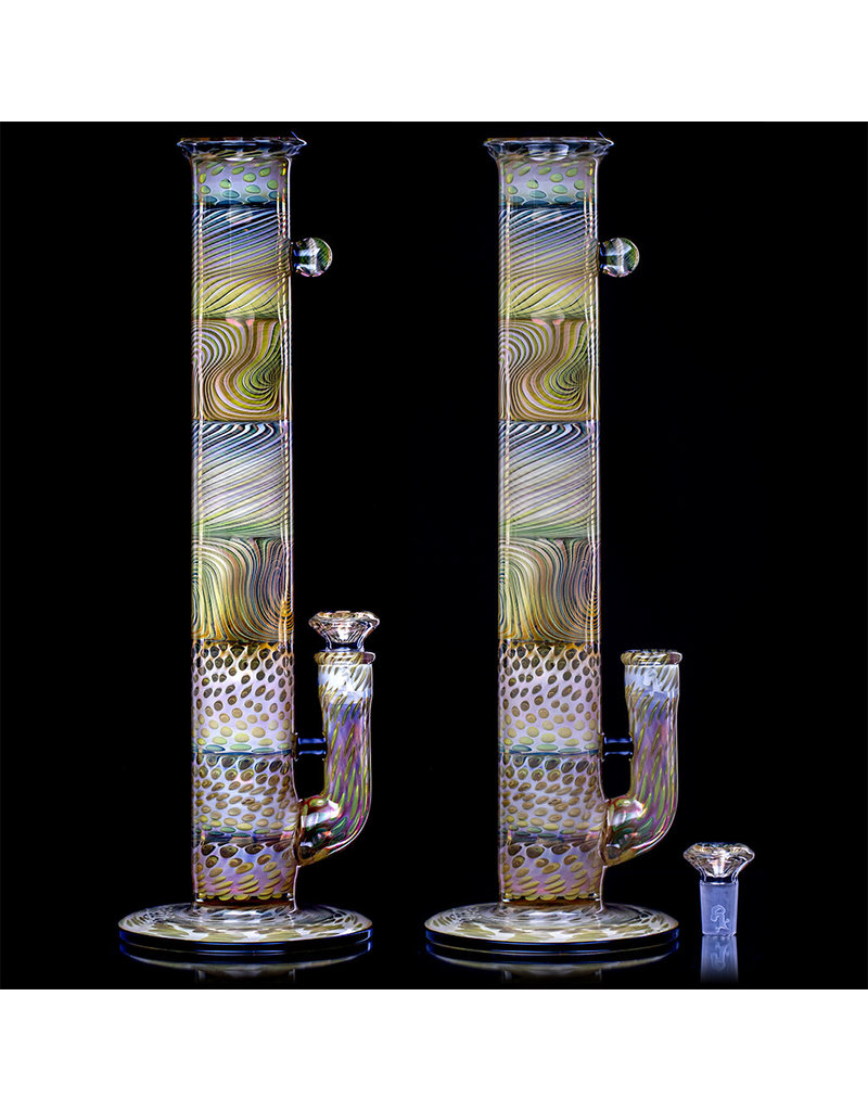 """Witch DR 18mm 15"""" Multi Section Fume Bong with Matching Slide (F) by Witch DR Studio"""