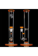 """Witch DR 18mm 14"""" 50x5 Orange Lava Accented Bong with Matching Slide by Witch DR Studio"""