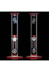 """Witch DR 18mm 14"""" 50x5 Cherry Accented Bong with Matching Slide by Witch DR Studio"""