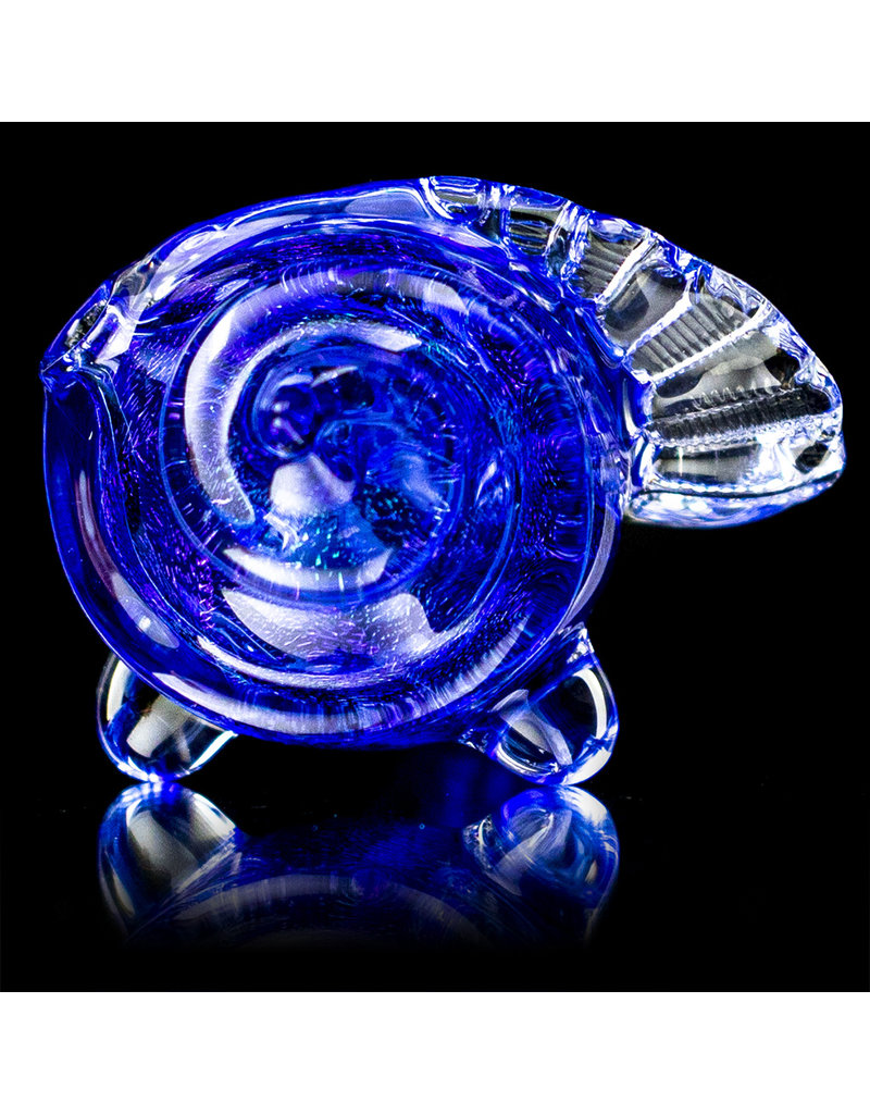 """5"""" Dichro Seashell Dry Pipe (F) by Turtle Time Glass"""