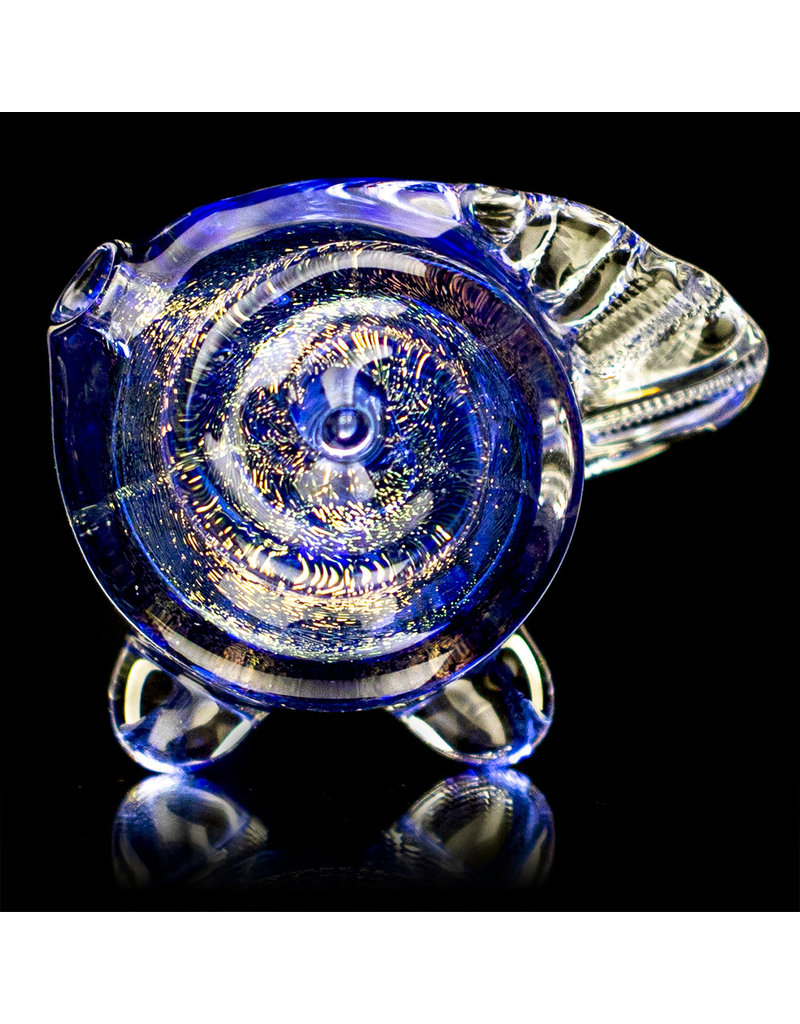 """5"""" Dichro Seashell Dry Pipe (E) by Turtle Time Glass"""
