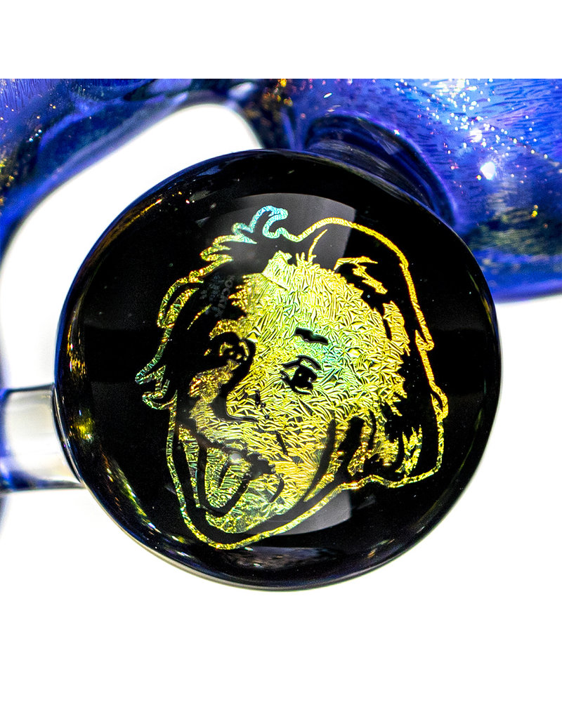 """6"""" Full Dichro Einstein Hammer Pipe by Turtle Time Glass"""