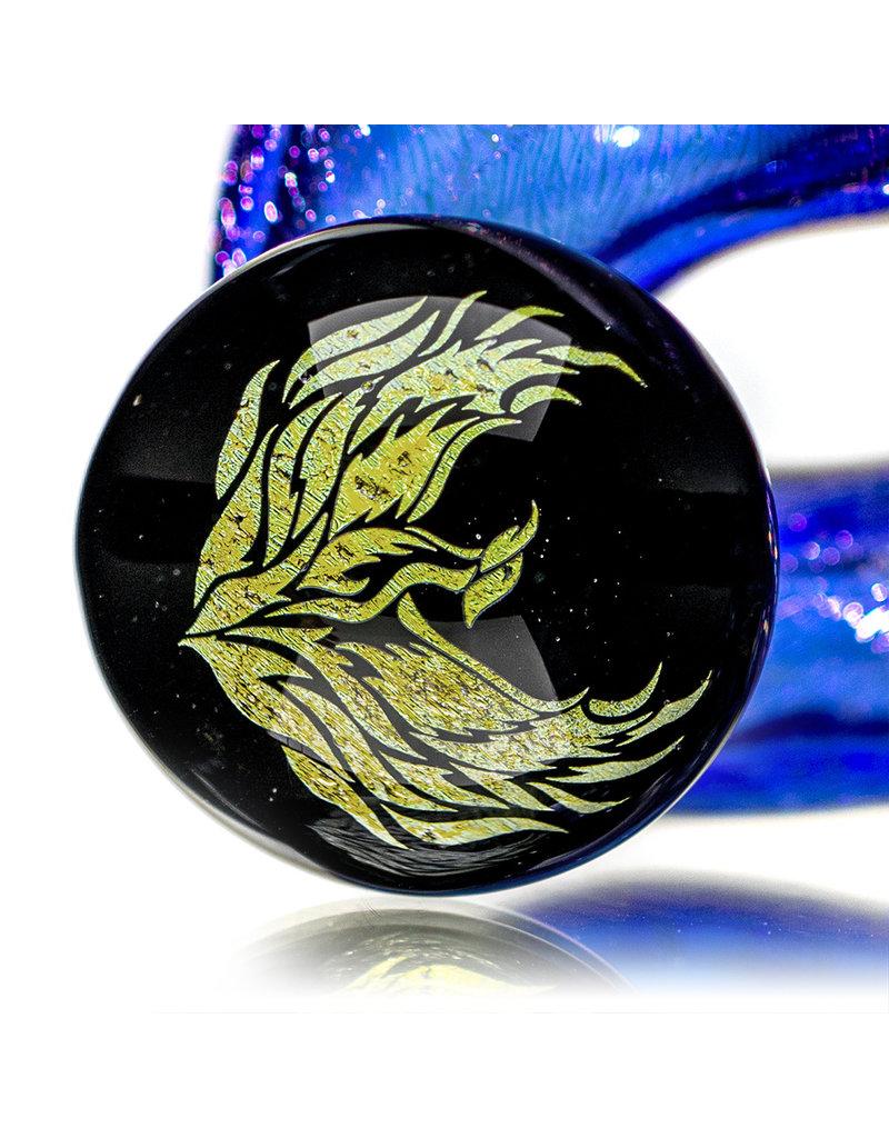 "5"" Full Dichro Rising Phoenix Sherlock Pipe by Turtle time Glass"