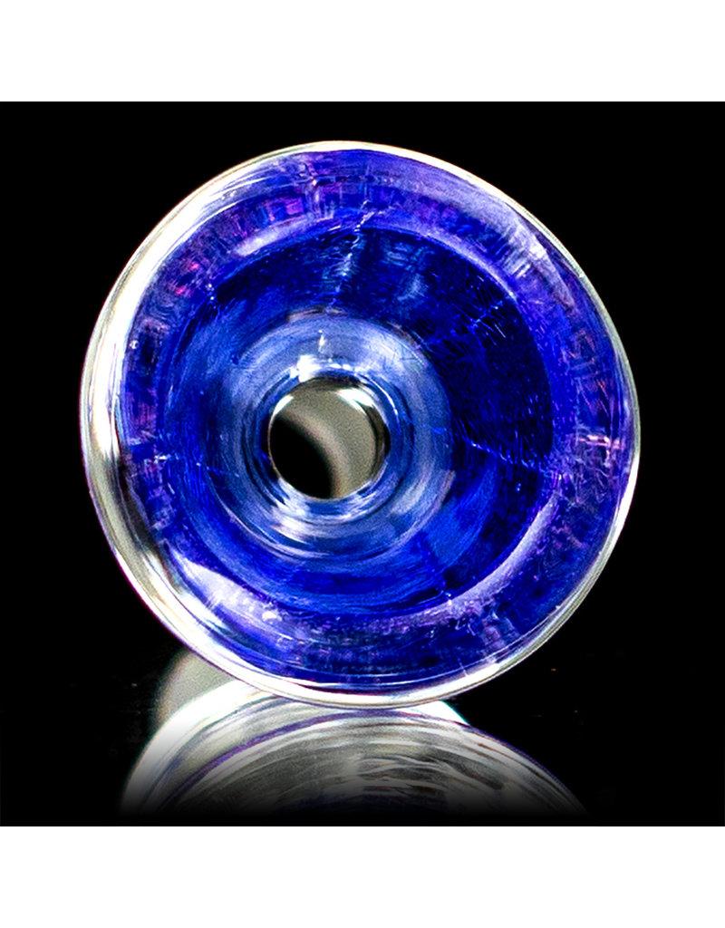14mm Gold & Purple Dichro Martini Slide by Turtle Time Glass