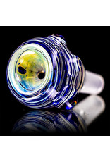"""15"""" 14mm Blue Goldie Hybrid Bong with Matching Slide (Z) by Heady Old School Glass"""