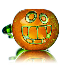 """Witch DR 5"""" Doctober Orange Frit Pumpkin Dry Pipe (H) by Witch DR Studio"""