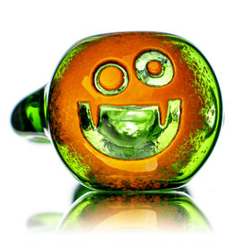 """Witch DR 5"""" Doctober Orange Frit Pumpkin Dry Pipe (K) by Witch DR Studio"""