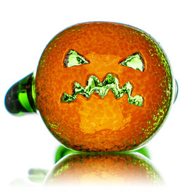 """Witch DR 5"""" Doctober Orange Frit Pumpkin Dry Pipe (BB) by Witch DR Studio"""