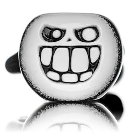 """Witch DR 5"""" Doctober NN Black & White Pumpkin Pipe"""