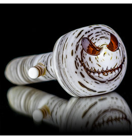 """Witch DR 4"""" Glass Dry Pipe Doctober Themed AMBER Betula Birch JACK (B11) by Witch DR"""