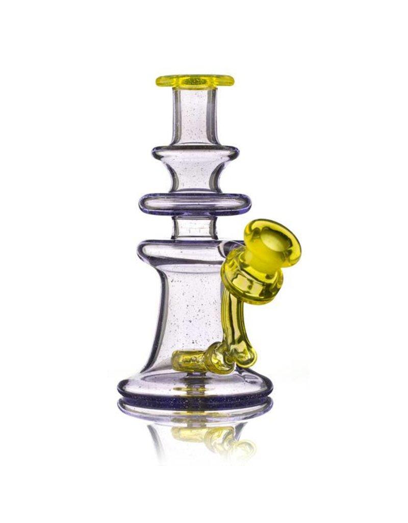 Snafu Snafu Glass Purple Lollipop/Test Lab Yellow Single Mini Dab Rig