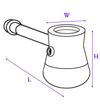 diagram showing how hammer bubbler was measured