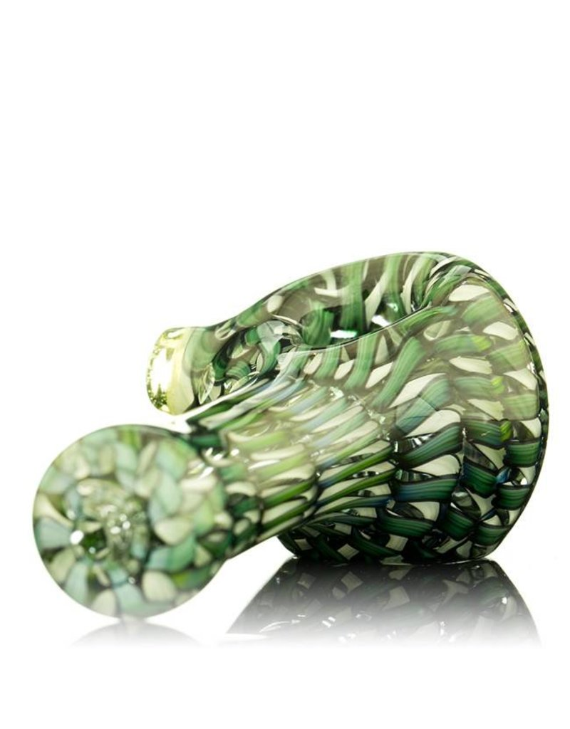 Keith Engelmann Keith Englemann Mini Spoon Hand Pipe with Green Ribbon Coil