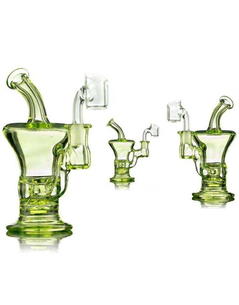 Blais Glass Jeff Blais Illuminati Mini Dab Rig w/ Nail - Waldo's Wonders